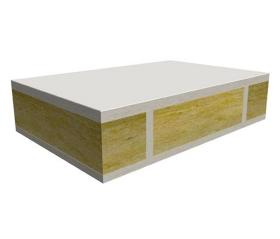 岩棉经过摆锤布棉后,由履带上下压制法,其烘干,生产成呼和浩特岩棉板